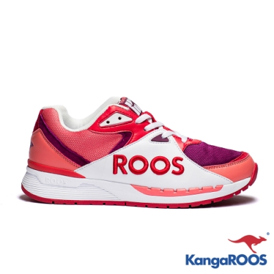 KangaROOS 美國袋鼠鞋 女 RUNAWAY ROOS復古跑鞋(玫紅)