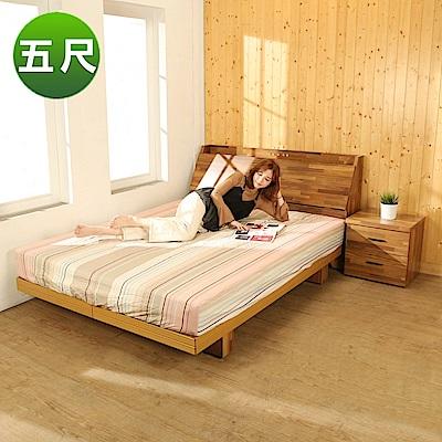 BuyJM拼接木系列雙人5尺2件式房間組(床頭箱+日式床底)-免組