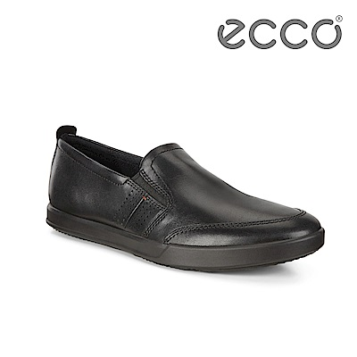 ECCO COLLIN 2.0 單色套入式休閒鞋 男-黑