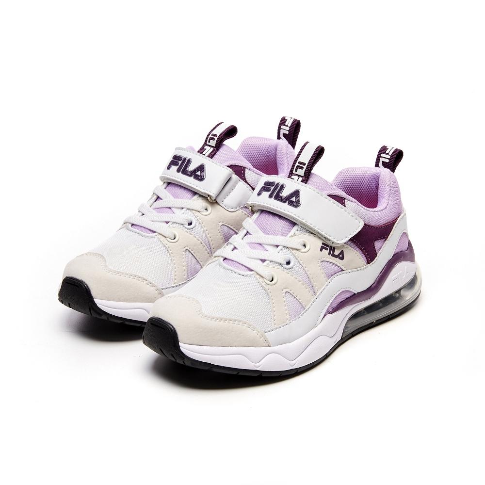 FILA KIDS 大童氣墊慢跑鞋-卡其紫 3-J819V-199
