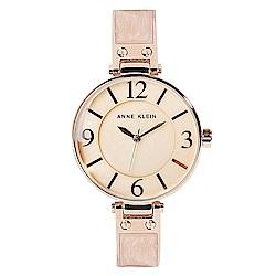 Anne Klein巴洛克式琺瑯工藝絕美腕錶-黃珍珠母貝x34mm AK-2210BMRG