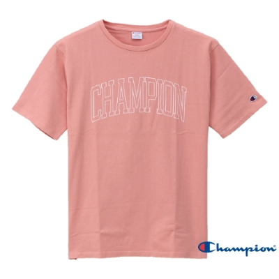 Champion Campus大字LOGO短Tee 粉紅色