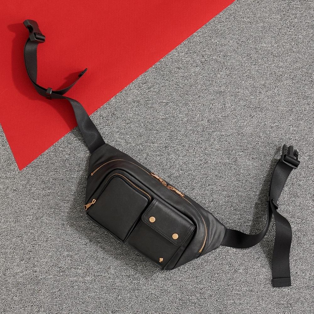 PORTER - 輕甜繽紛SPIRIT造型時尚腰包 - 黑(金)