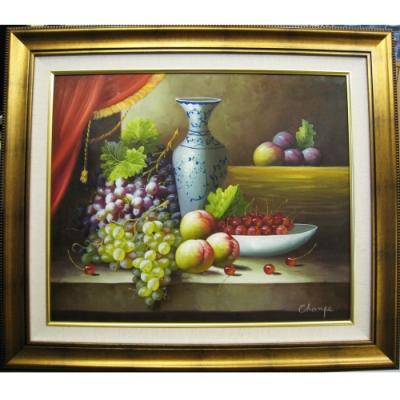 靜物水果 原作手繪 油畫掛畫壁飾