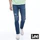 Lee 牛仔褲 722 低腰合身直筒 男 中藍 彈性 縫補破壞設計 product thumbnail 1