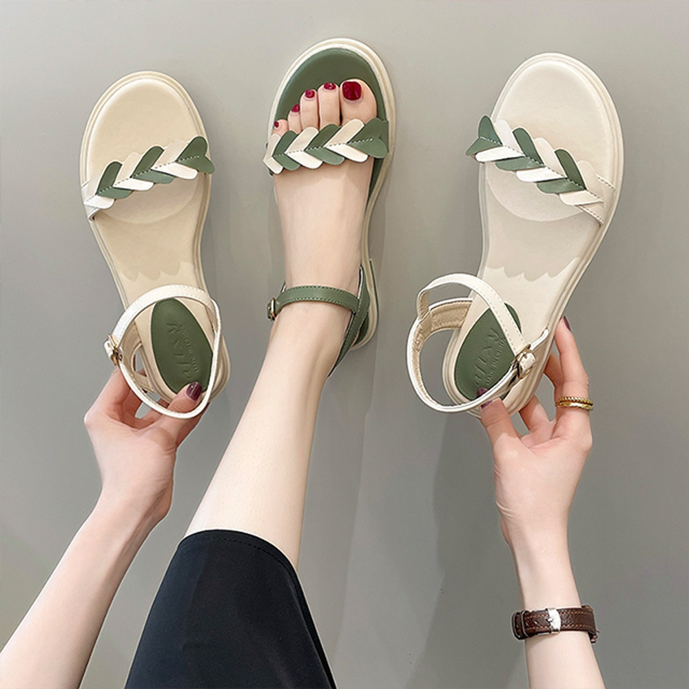 KEITH-WILL時尚鞋館-獨賣夏日時光涼鞋(涼鞋/涼跟鞋)(共2色) (米白色)