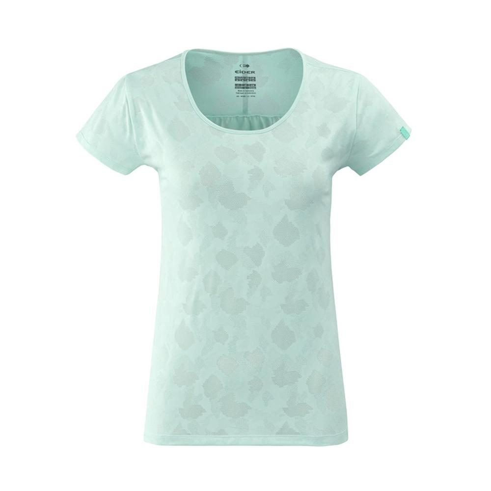 法國【EiDER】女排汗印花短袖圓領衫 / 9EIV4699-薄荷綠