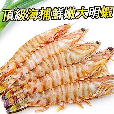 馬姐漁舖 頂級海捕鮮嫩大明蝦10尾入