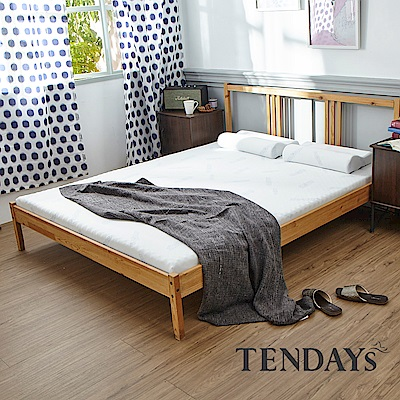 TENDAYS DISCOVERY 柔眠床墊(晨曦白) 6尺加大雙人 5.5cm厚-買床送枕