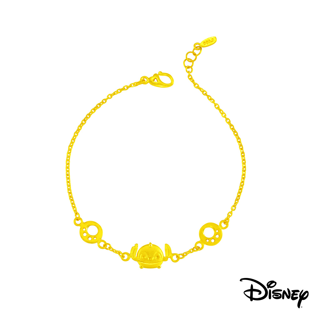 Disney迪士尼系列金飾 黃金手鍊-史迪奇足跡款 @ Y!購物