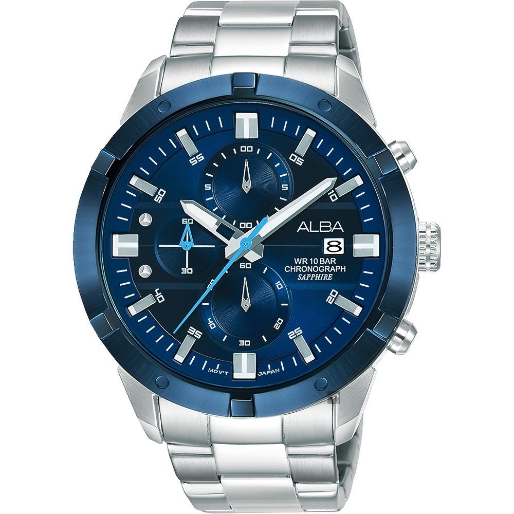 ALBA 雅柏 原創計時手錶(AM3753X1)-44mm