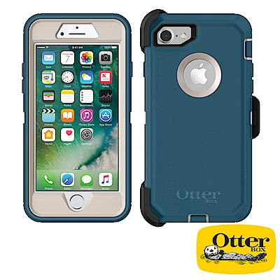 OtterBox iPhone7 / iPhone8防禦者系列保護殼-海洋藍
