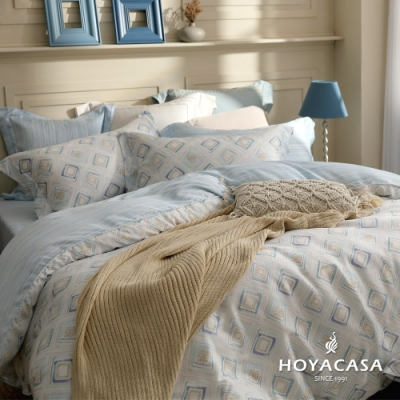 HOYACASA 莫格齊 雙人四件式抗菌天絲兩用被床包組