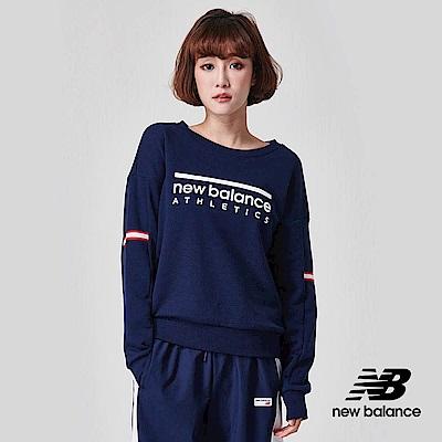 New Balance 長袖T恤_AWT91551PGM_女性_深藍