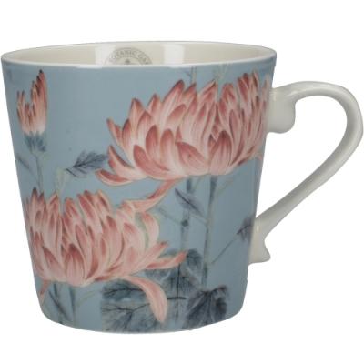 《CreativeTops》Kew白瓷馬克杯(藍牡丹350ml)