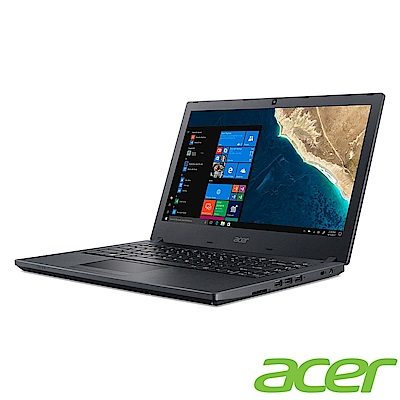 Acer TMP2410 14吋商用筆電(i3-8130U/8G/128G SSD+500GB/黑)