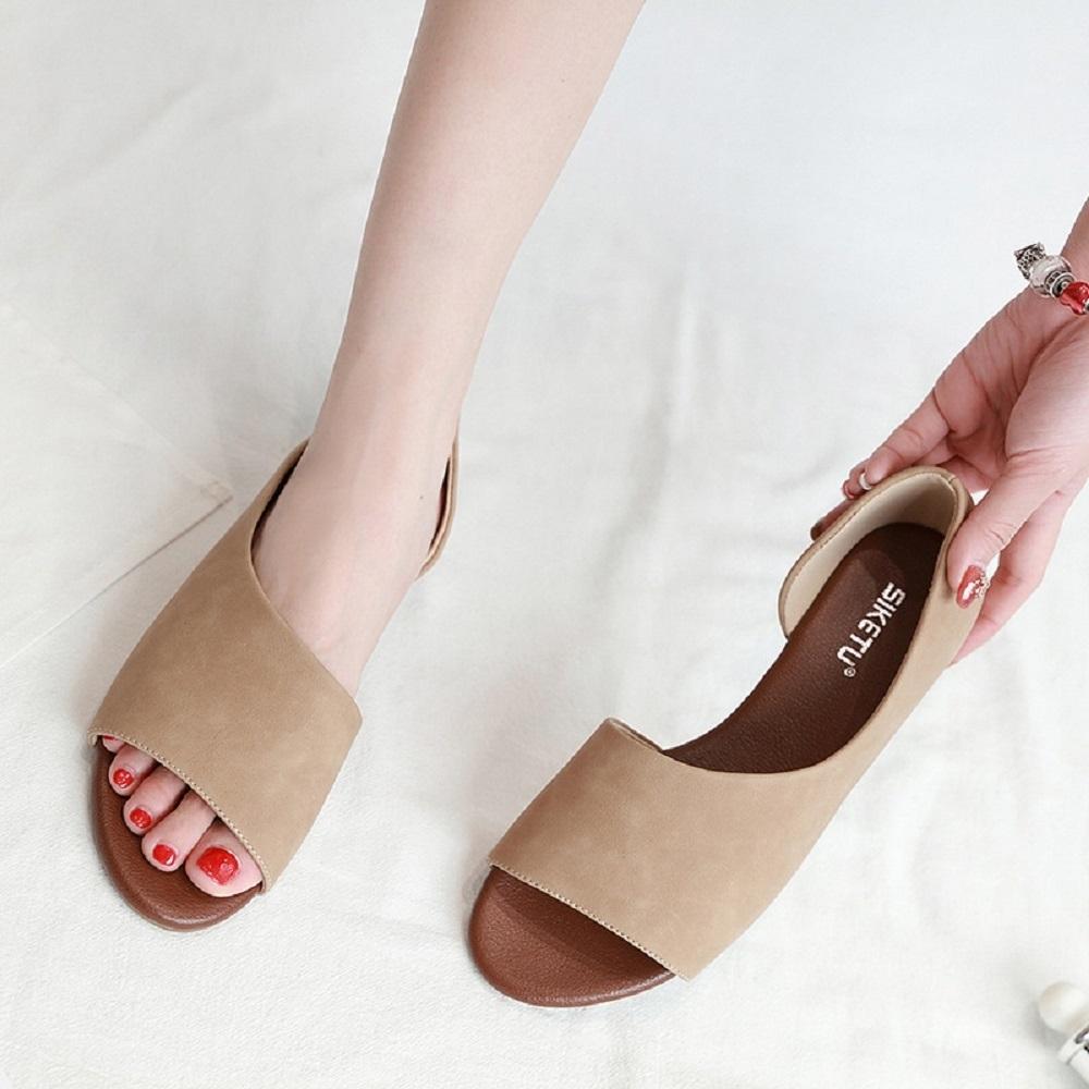 LN 現+預 夏季歐美魚口坡跟涼鞋-3色