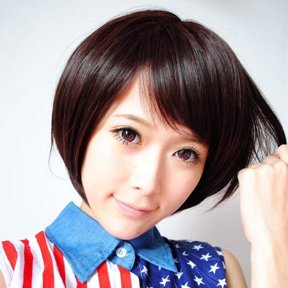 米蘭精品 女假髮整頂短假髮-鮑伯頭自然逼真女美髮用品4色68x41