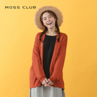 【MOSS CLUB】百搭造型遮陽外套-針織衫(三色)