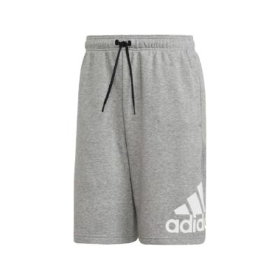 adidas 短褲 M MH BOSShortFT 灰 白 男款 運動 訓練 休閒 【PUMP306】 EB5260