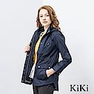 KiKi INLook 多功能收腰連帽夾克外套(藍色)