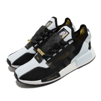 adidas 休閒鞋 NMD R1 V2 襪套式 男鞋 愛迪達 三葉草 星際大戰 藍道 Boost 藍 黑 FX9300
