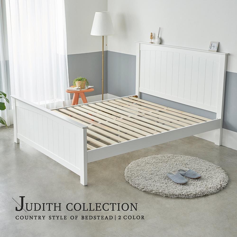 H&D 朱蒂斯鄉村風實木5尺雙人床架-2色
