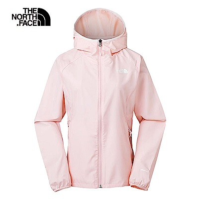 The North Face北面女款粉色防風防潑水可收納外套|3RL89MP