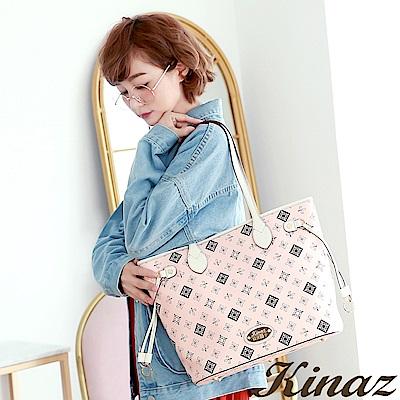 KINAZ 經典協奏曲托特包-自信粉紅-小鹿系列-快