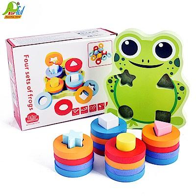Playful Toys 頑玩具 木製青蛙四柱套圈