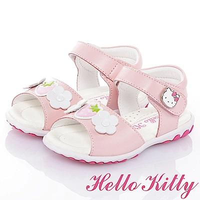 (雙11)HelloKitty 手工鞋牛皮超纖涼鞋童鞋-粉