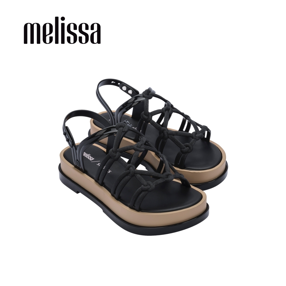 Melissa x Salinas聯名 波西米亞風厚底涼鞋-黑