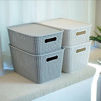 韓國製韓系附蓋簍空格紋置物盒