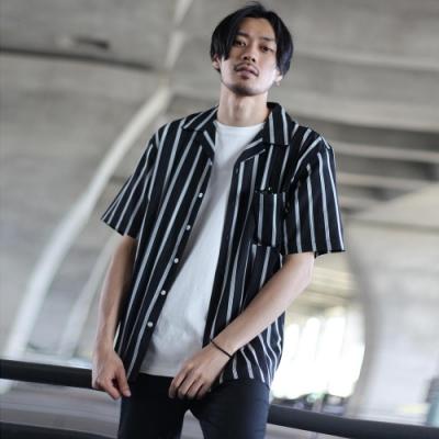 開領短袖襯衫素色滿版圖紋(20色) ZIP日本男裝