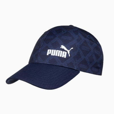 PUMA-男女基本系列AOP棒球帽-重深藍