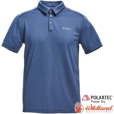 Wildland 荒野 P1602-69灰藍色 男POLARTEC功能上衣