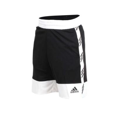 adidas 男運動短褲-慢跑 路跑 愛迪達 黑白