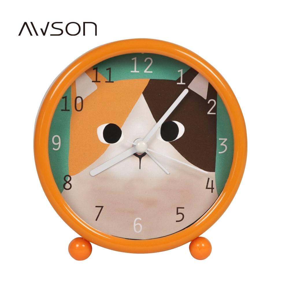 AWSON鬍鬚家族小鬧鐘(黃)AWK6005Y