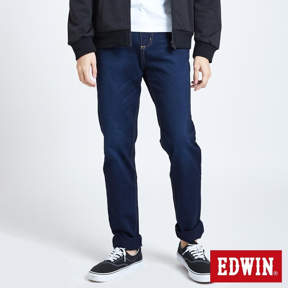 EDWIN JERSEYS 迦績 EJ7 棉中腰錐形牛仔褲-男-原藍磨