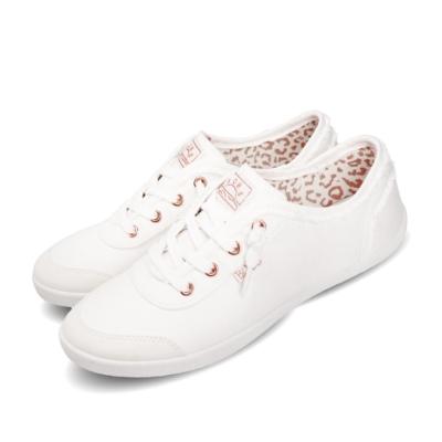 Skechers 休閒鞋 Bobs B Cute 復古 女鞋 簡約 避震 緩衝 穿搭 外出 白 粉 33492WHT