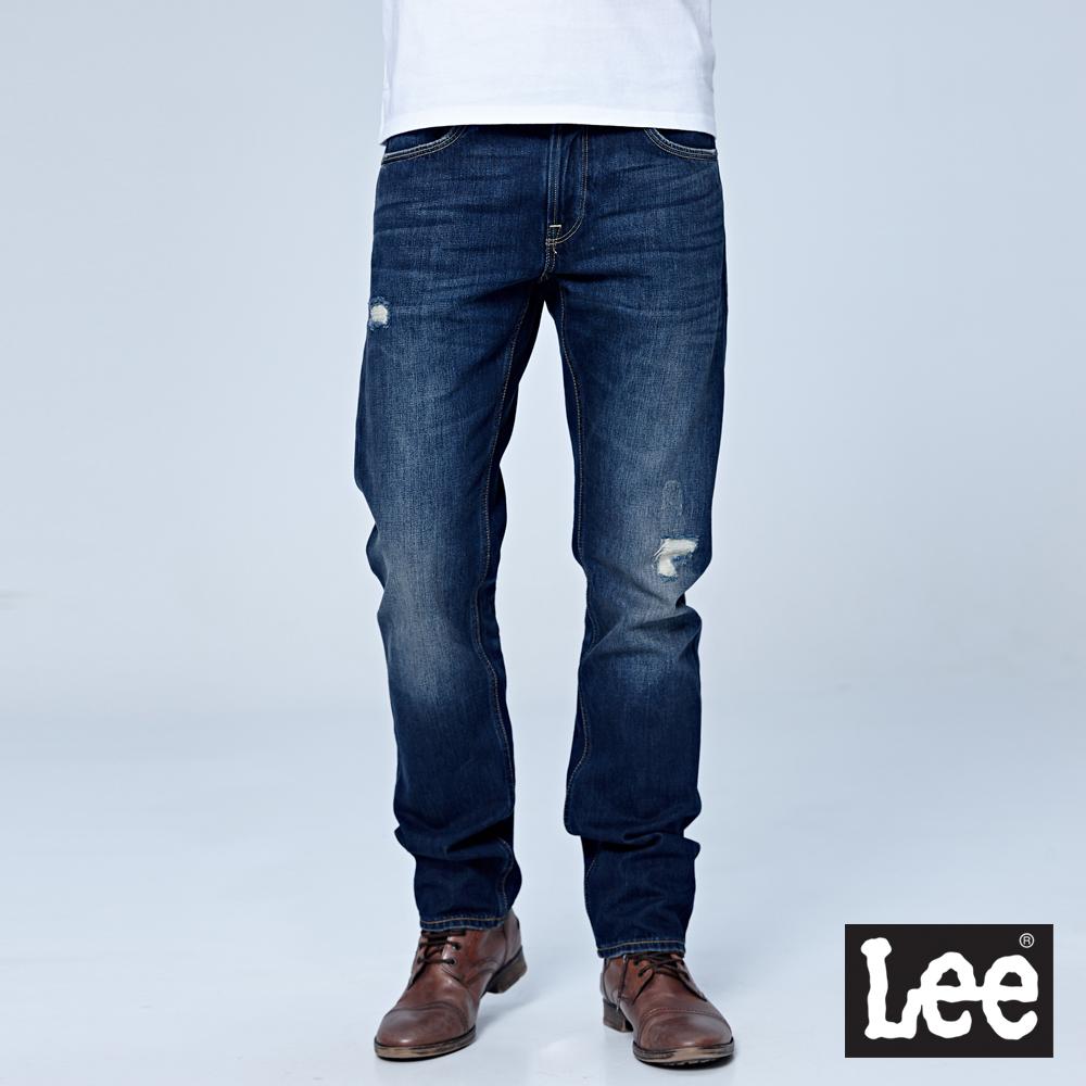 Lee 中腰標準小直筒牛仔褲/101+-中深藍