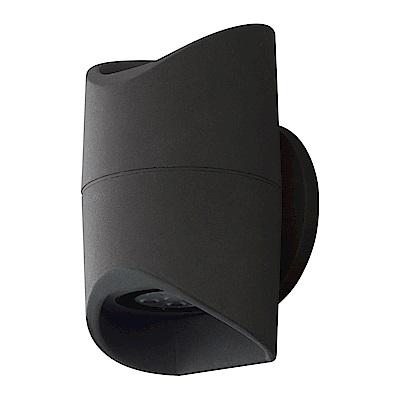 EGLO歐風燈飾 現代黑雙燈式LED圓筒壁燈/門牌燈