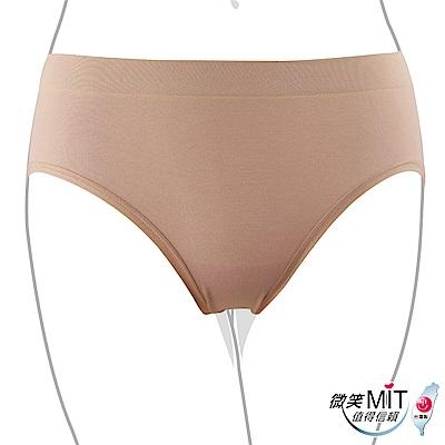推EASY SHOP-iMEWE 中低腰三角褲(奶茶色)