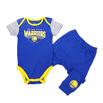 NBA 新生兒包屁衣套裝 勇士隊 12-24M