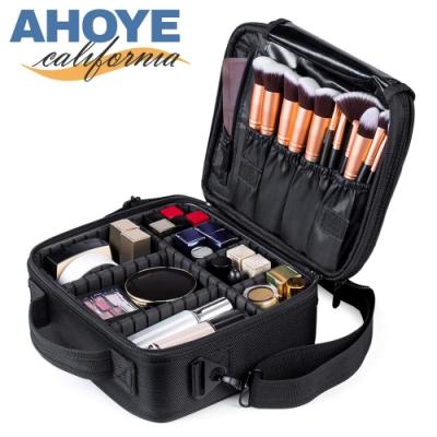 AHOYE 手提式多隔層旅用化妝包(25*23*9cm) 收納包