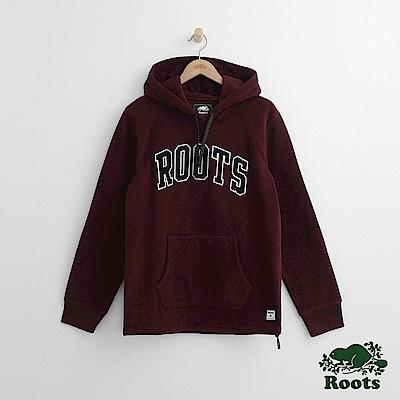 Roots 男裝- 經典連帽上衣-紅