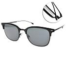 HUGO BOSS 太陽眼鏡   率性眉框款/黑-灰鏡片 # HB1028FS 807IR