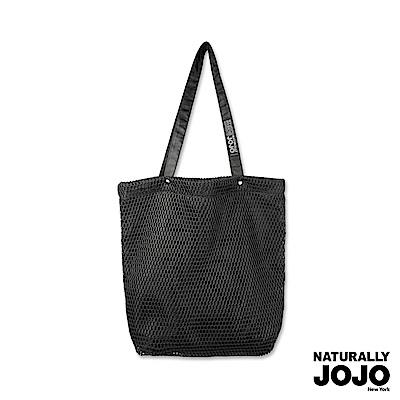 【NATURALLY JOJO】網狀軟肩背包(黑)