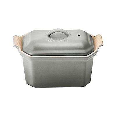 LE CREUSET 瓷器方型肉醬烤盅(迷霧灰)