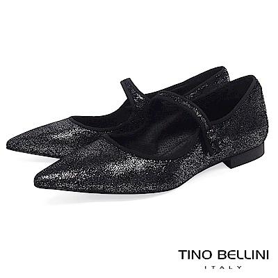 Tino Bellini義大利進口暗夜星空瑪麗珍鞋_黑